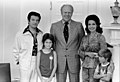 Photograph of President Gerald Ford with Performer Annette Funicello and Her Family - NARA - 7339515.jpg