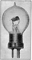 Photograph of an early triode valve. Wellcome M0014866.jpg