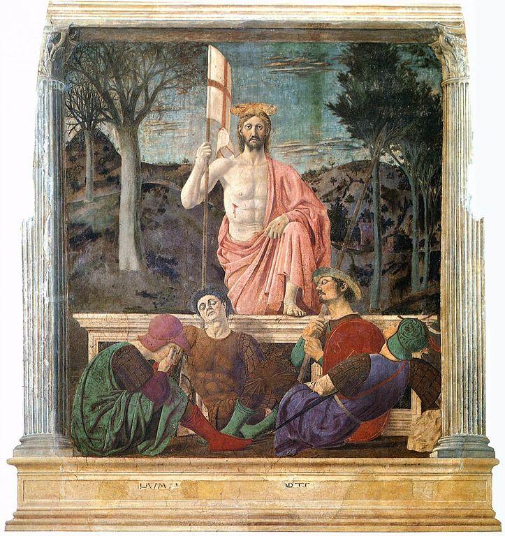 https://upload.wikimedia.org/wikipedia/commons/thumb/e/eb/Piero_della_Francesca_-_Resurrection_-_WGA17609.jpg/723px-Piero_della_Francesca_-_Resurrection_-_WGA17609.jpg