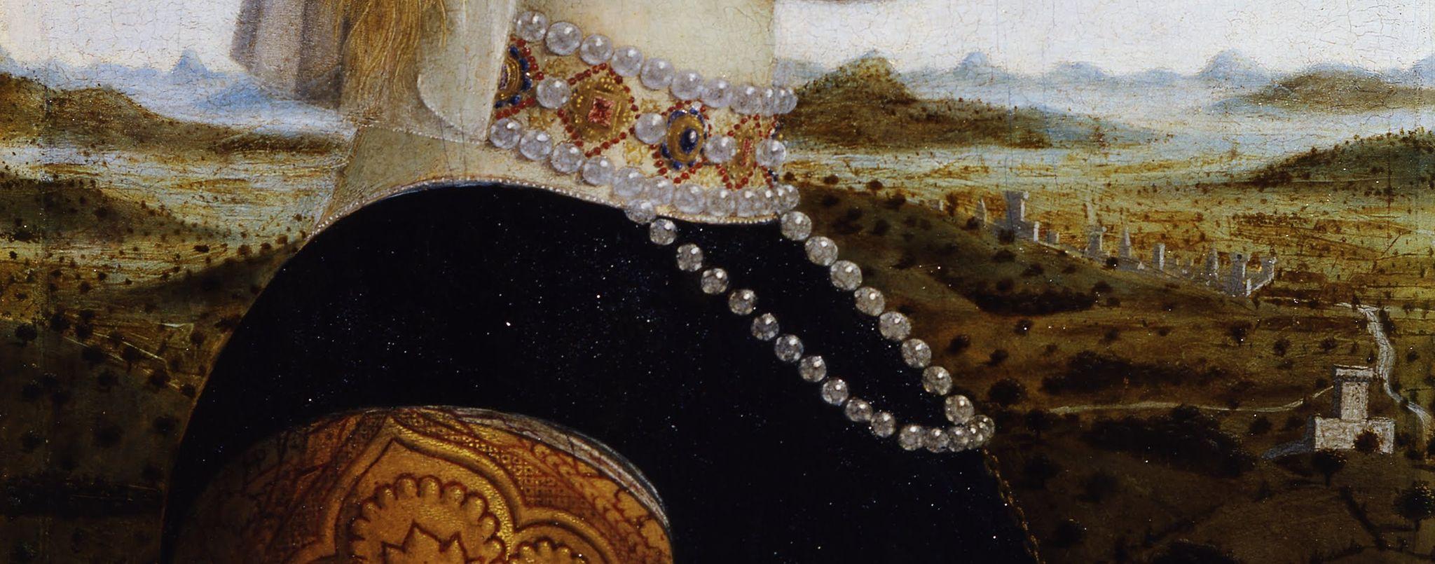 Piero della Francesca - Ritratti dei Duchi di Urbino Federico da Montefeltro e Battista Sforza - detail -01