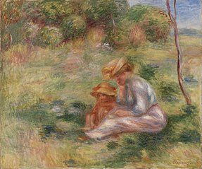 Woman and Child in the Grass (Femme avec enfant sur l'herbe)