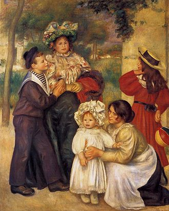 Gabrielle Renard - The Artist's Family, Pierre-Auguste Renoir, 1896.
