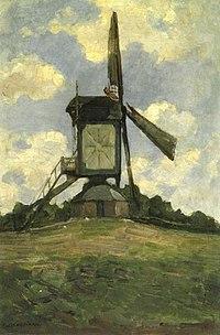 Piet Mondriaan - Post mill at Heeswijk, side view - A369 - Piet Mondrian, catalogue raisonné.jpg