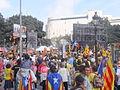 Plaça de Catalunya - Manifestació 19 octubre 2014 convocada per l'ANC.JPG