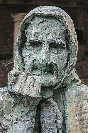Plañideras, obra de Pepe Antonio Márquez, a Lluanco.jpg