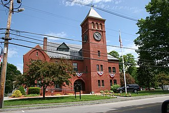 Plaistow, New Hampshire - Plaistow Town Hall in late spring