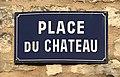 Plaque de rue Place du Château - Courson-les-Carrières (Yonne, France).JPG