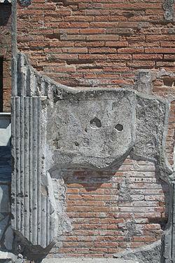 Plaster - Putz in Pompeji.JPG