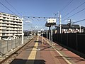Platform of Chojabaru Station (Sasaguri Line) 4.jpg