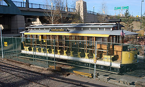Platte Valley Trolley - The Platte Valley Trolley in its  parking place in Denver, Colorado