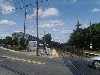 Plauderville station - The former station platform in Plauderville, in use until October 10, 2011