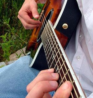 Steel-string acoustic guitar - Fingerpicking a steel-string guitar