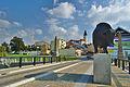 Pohled na historické centrum z mostu Dr.M.Tyrše, Přerov (04).jpg