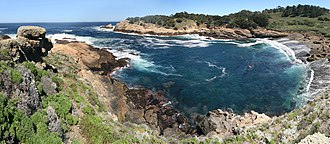 Point Lobos - A panoramic view of Headland Cove