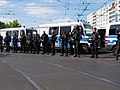 "Police at Landsberger Allee-Petersburger Straße in Berlin in front of the ""Heß-Marsch"" Demonstration.jpg"