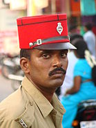 Policeman in Pondicherry - India
