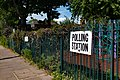 Polling Station Sign, Canonbury, London, European Elections 2019.jpg