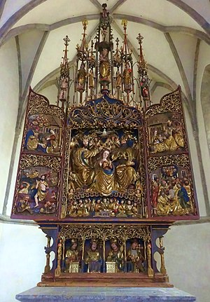 Pontebba - the Flügelaltar in Pieve of Santa Maria Maggiore