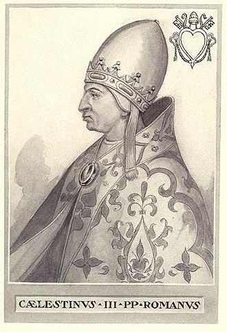 Pope Celestine III - Image: Pope Celestine III