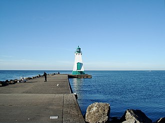Port Dalhousie, Ontario - The historic lighthouse and pier