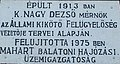 Port of Fonyód, plaque of Dezső K. Nagy, 2016 Hungary.jpg