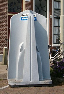 A portable set of four urinals in the Netherlands.