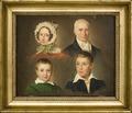 Porträtt av konstnärens far, hustru, son och fosterson (Emilius Ditlev Bærentzen) - Nationalmuseum - 178515.tif