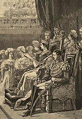 Queen opening Parliament in 1846