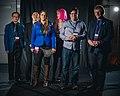 Portrait photoshoot at Worldcon 75, Helsinki, before the Hugo Awards – Cixin Liu, Ken Liu, Ada Palmer, Charlie Jane Anders, Jon Oliver and Oliver Johnson.jpg
