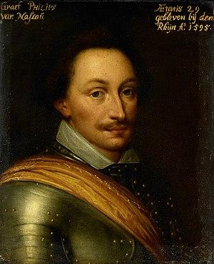 Portret van Philips (1566-95), graaf van Nassau Rijksmuseum SK-A-527