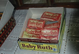 Baby Ruth - Box of Curtiss' Baby Ruth candy bars at General Store in Portsmouth, North Carolina.
