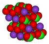 Struktura krystaliczna chloranu potasu