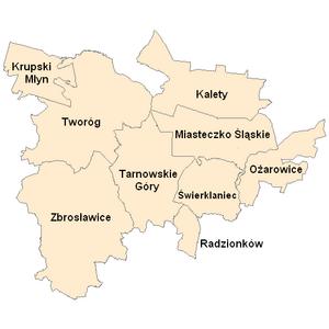 Tarnowskie Góry County - Image: Powiat tarnogórski nazwy
