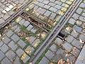 Praha, ulice Boženy Němcové, stará výhybka - detail.JPG