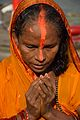 Praying Devotee - Chhath Puja Ceremony - Baja Kadamtala Ghat - Kolkata 2013-11-09 4257.JPG