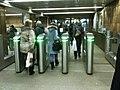 Prazhskaya station entry, turnstiles (Вход на станцию Пражская, турникеты) (4317182406).jpg