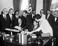 President John F. Kennedy Signs the Social Progress Trust Fund Agreement with the Inter-American Development Bank 02.jpg