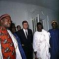 President John F. Kennedy with Parliamentary Delegation from Nigeria (02).jpg
