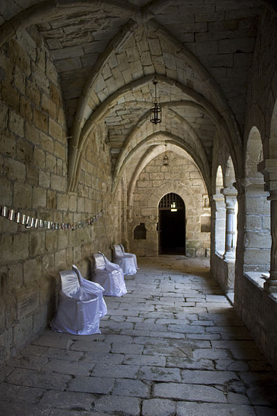 English:  South span of the cloister.