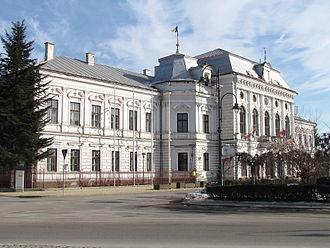 Turda County - Turda County prefecture building during the interwar period, now Turda city hall.