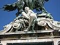 Prince Eugene monument by József Róna, Royal Palace, 2009 BudapestDSCN3847.jpg