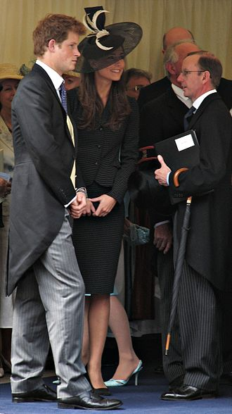 Cartwheel hat - Kate Middleton, seen here with Prince Harry, wore a Philip Somerville cartwheel design in 2008
