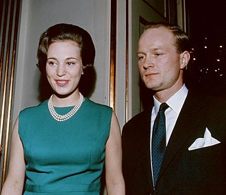 Princess Benedikte of Denmark - Princess Benedikte with Prince Richard before their marriage