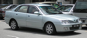 The front of a first generation Proton Waja, i...