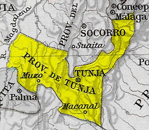 Tunja Province - Image: Provincia Tunja