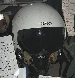 FMA IA 58 Pucará - Helmet of pilot shot down by small arms fire from 2 PARA during the Falklands War