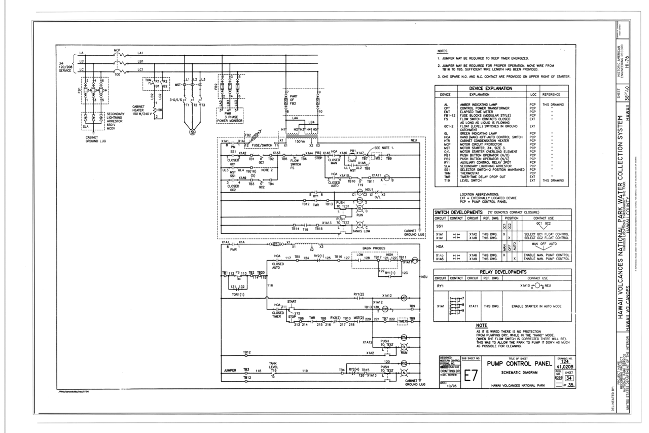 file pump control panel  schematic diagram