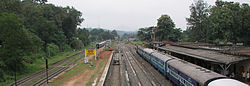 View of Punalur Railway Station