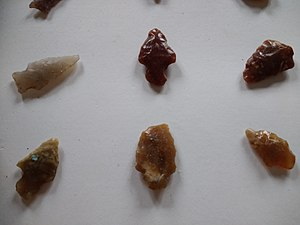 Indigenous peoples in Uruguay - Arrowheads found in Colonia Department