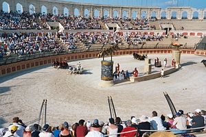 Chariot racing - A modern recreation of chariot racing in Puy du Fou